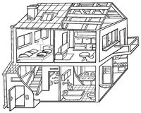 дом жилища Стоковое Изображение RF