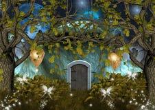 дом заколдованная эльфами Стоковое Изображение RF
