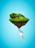 Дом и ключ Стоковая Фотография