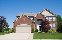 дом кирпича большая Стоковая Фотография RF