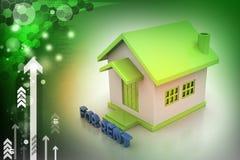 Дом концепции недвижимости для ренты Стоковые Изображения
