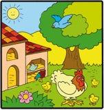 дом курицы Стоковая Фотография RF