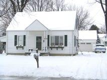дом Мичиган снежный Стоковая Фотография