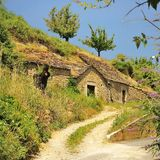 Дом пещеры, Pyreleau, Франция Стоковые Фотографии RF