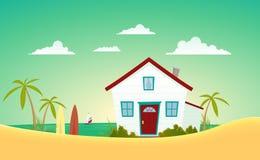 дом пляжа Стоковые Изображения