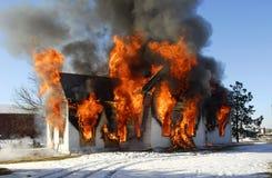 дом пожара Стоковая Фотография RF