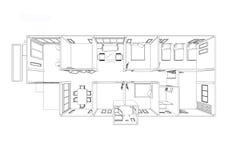 Дом плана Стоковое Изображение RF
