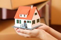 дом руки Стоковые Фото