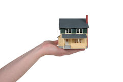 дом руки Стоковые Изображения