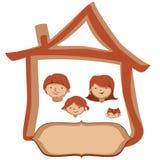 Дом семьи вектора Стоковые Изображения
