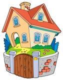 дом семьи шаржа Стоковая Фотография