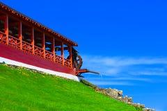 Дом старого стиля с водяной мельницей Стоковое Изображение RF