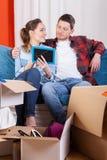 Дом счастливого замужества moving Стоковые Фотографии RF
