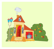 Дом с большими окнами Стоковое Изображение RF