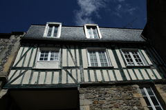 Дом с полу-timbering, Франция Стоковая Фотография RF