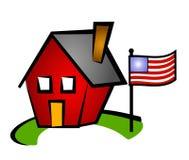 дом флага немногая красное мы Стоковые Изображения