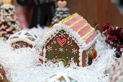 Дом хлеба имбиря Стоковая Фотография