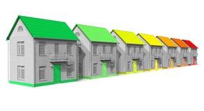 дом энергии эффективности принципиальной схемы Стоковое фото RF