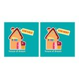Дом для продажи и для ренты Стоковые Изображения RF