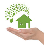 дом eco зеленая Стоковые Изображения