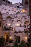 Дом Matera, Balsilicata, Италии Стоковое Изображение