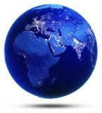 Доработанная земля отразила 3d представляет Стоковые Фотографии RF