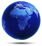 Доработанная планета отразила 3d представляет Стоковые Изображения RF