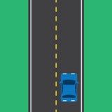 Дорога автомобиля верхняя Стоковые Фотографии RF
