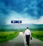 дорога бизнесмена Стоковое Изображение
