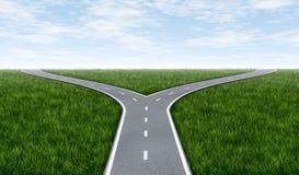 дорога вилки Стоковые Изображения