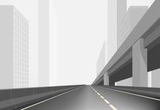 Дорога в городке Стоковые Изображения