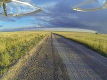 Дорога в злаковике Пауни Стоковые Фото