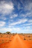 дорога захолустья Австралии Стоковое Изображение RF