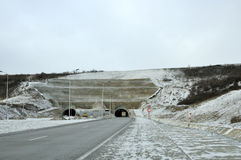 Дорога и тоннель Стоковая Фотография RF
