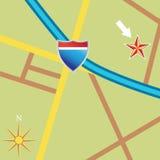 дорога карты Стоковое фото RF