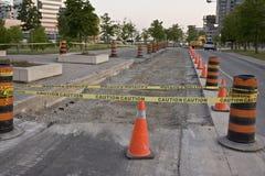 дорога конструкции Стоковое Изображение RF