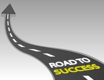 Дорога к успеху с поднимающей вверх стрелкой Стоковое Фото