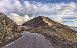 Дорога к Cime de Ла Bonnette Стоковое Изображение
