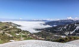 Дорога к Col de Pailheres Стоковые Изображения