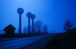 Дорога на лунном свете Стоковые Фотографии RF
