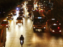 дорога ночи города Стоковые Изображения
