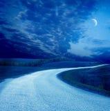 дорога ночи Стоковое Изображение RF