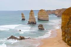 дорога океана Австралии 12 апостолов большая Стоковые Изображения