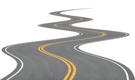 дорога очень обматывая Стоковое Фото
