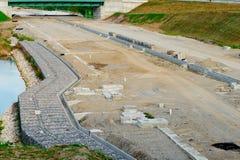 Дорога под реконструкцией Стоковые Фотографии RF