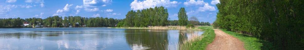 дорога реки свободного полета панорамная Стоковые Изображения