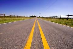дорога фермы Стоковая Фотография