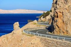 Дорога Хорватия побережья Стоковые Фото