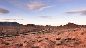 Дорога через долину огня Стоковые Изображения RF