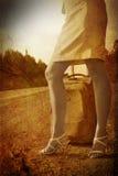 дорога девушки Стоковое Изображение